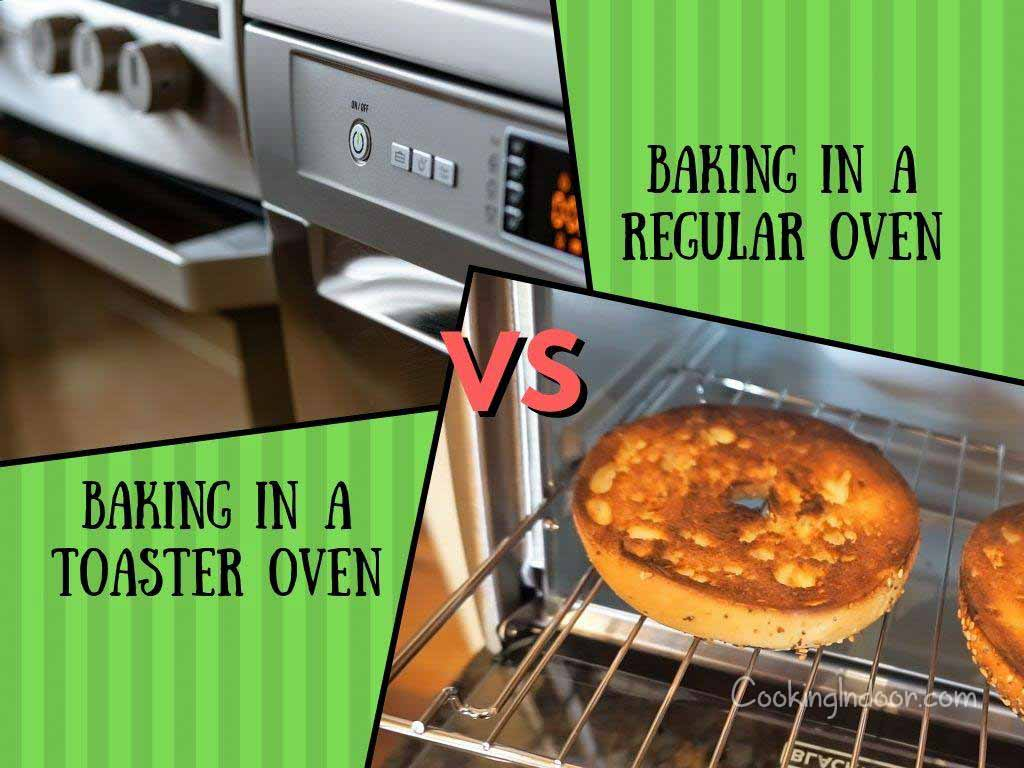 Baking in Toaster oven vs regular oven