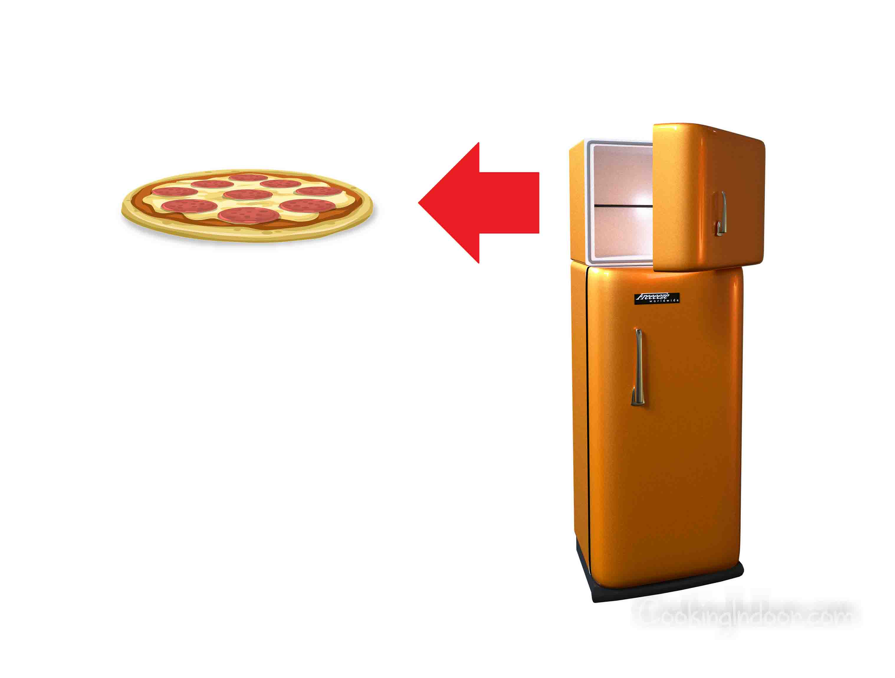 Frozen pizza in toaster oven
