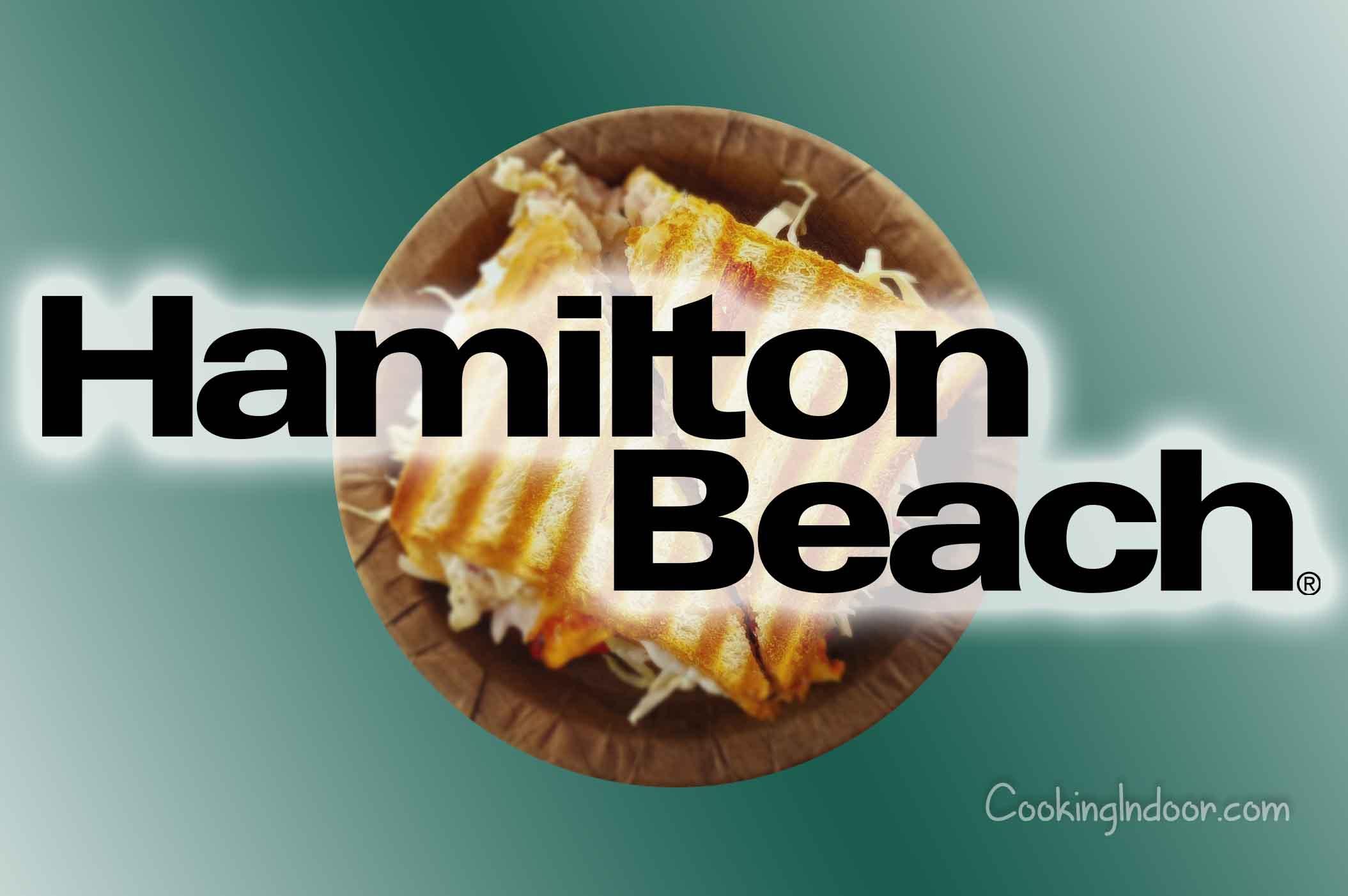Hamilton Beach panini press instructions