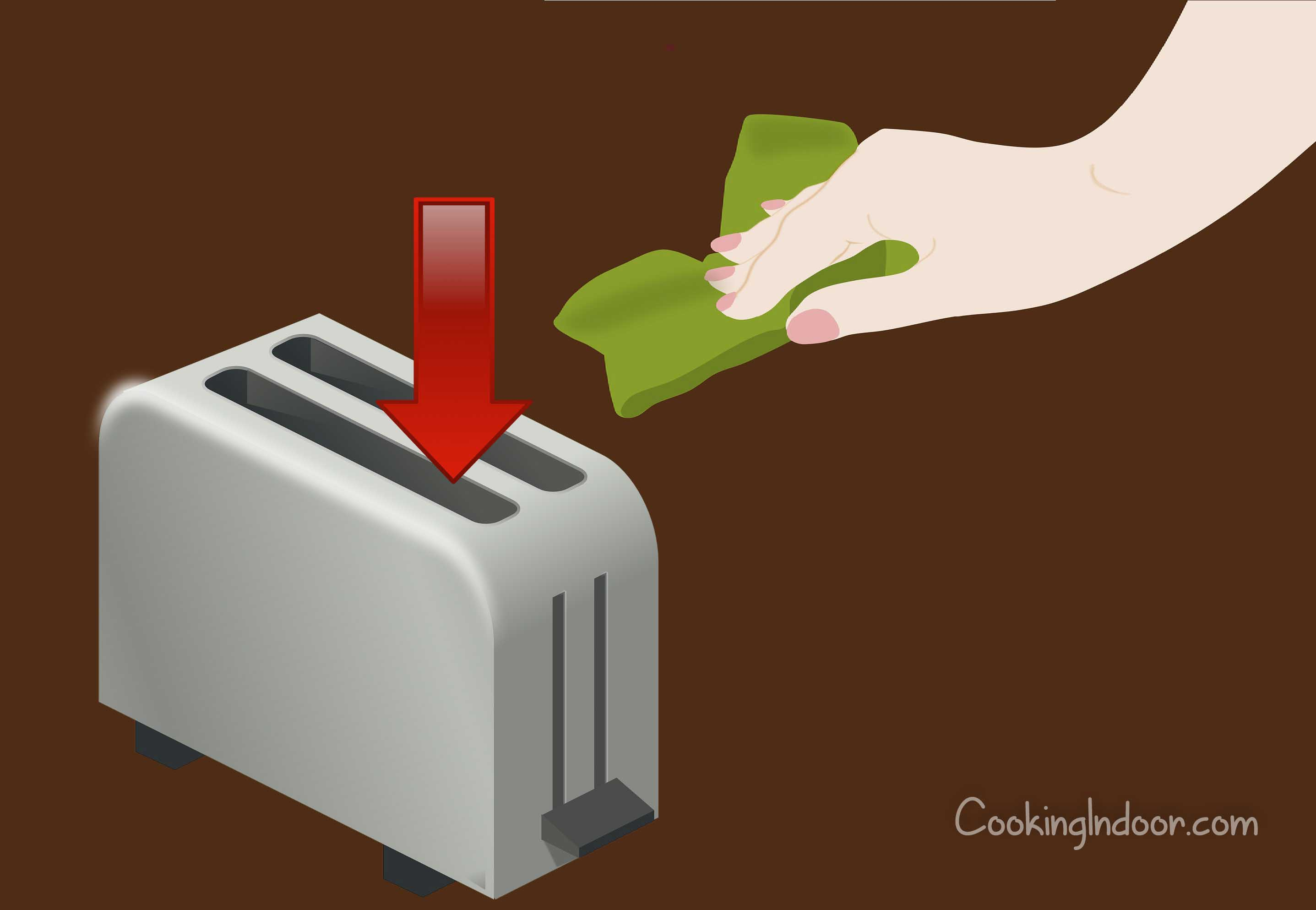 How to clean inside of toaster